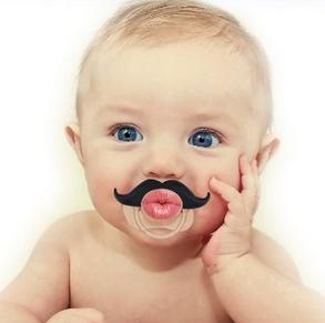Babystache Kissable Mustache Pacifier for Your Little Cutie Pie - Kissable Professional