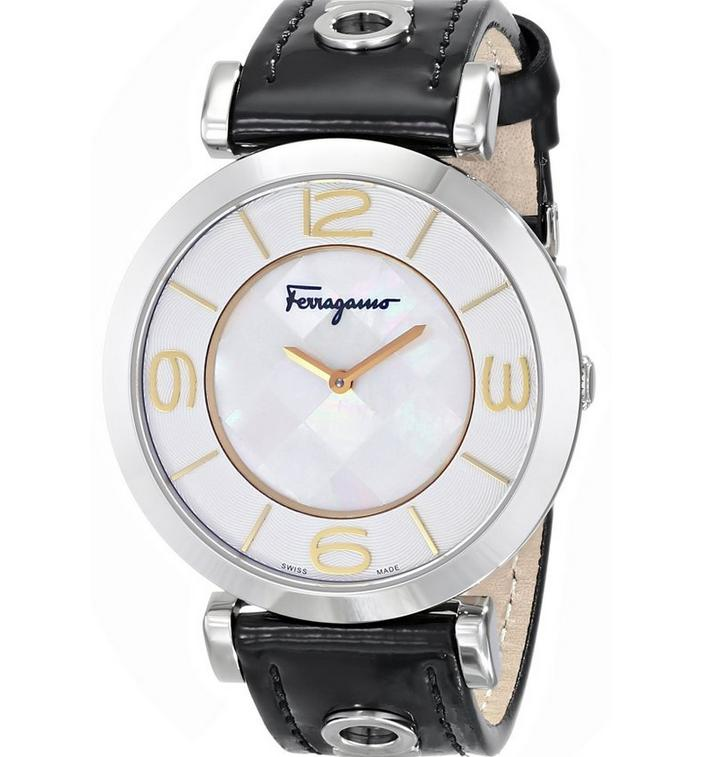 Salvatore Ferragamo Women's FG3020014 GANCINO DECO Analog Display Quartz Black Watch