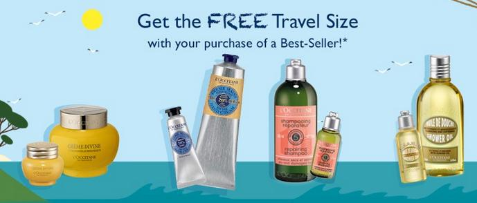 Free Travel Size Gift with A Full Price Best-Seller Purchase @ L'Occitane