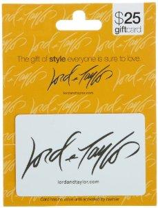 $20 Amazon lightning deals! Lord & Taylor Gift Card ($25 value)