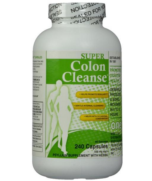 Super Colon Cleanse, 500mg, 240 capsules