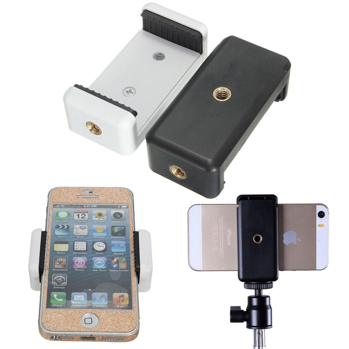 $1.39 + Free Shipping Phone Tripod Monopod Selfie stick Clip Bracket Holder
