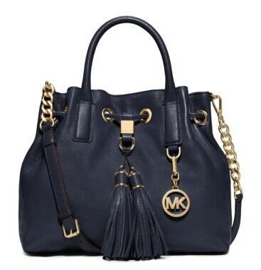 Camden Medium Leather Drawstring Satchel @ Michael Kors
