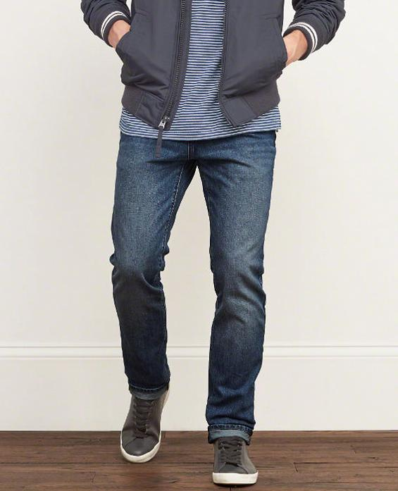 A&F Men's Skinny Button Fly Jeans