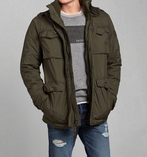 Abercrombie & Fitch Men's Mount Marshall Military Jacket