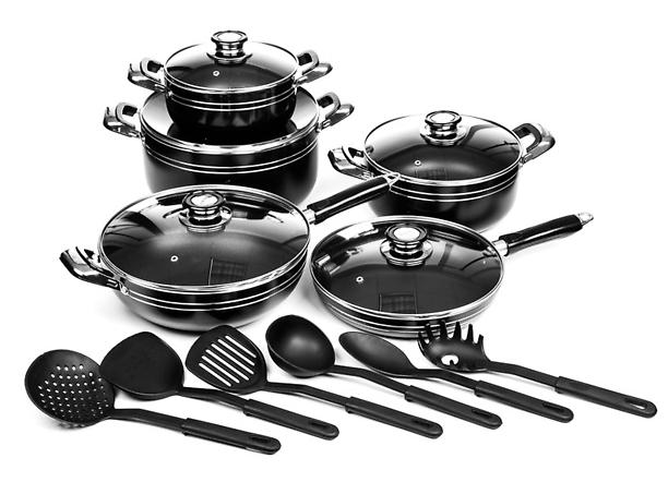 16-Piece Aluminum Nonstick Cookware Set
