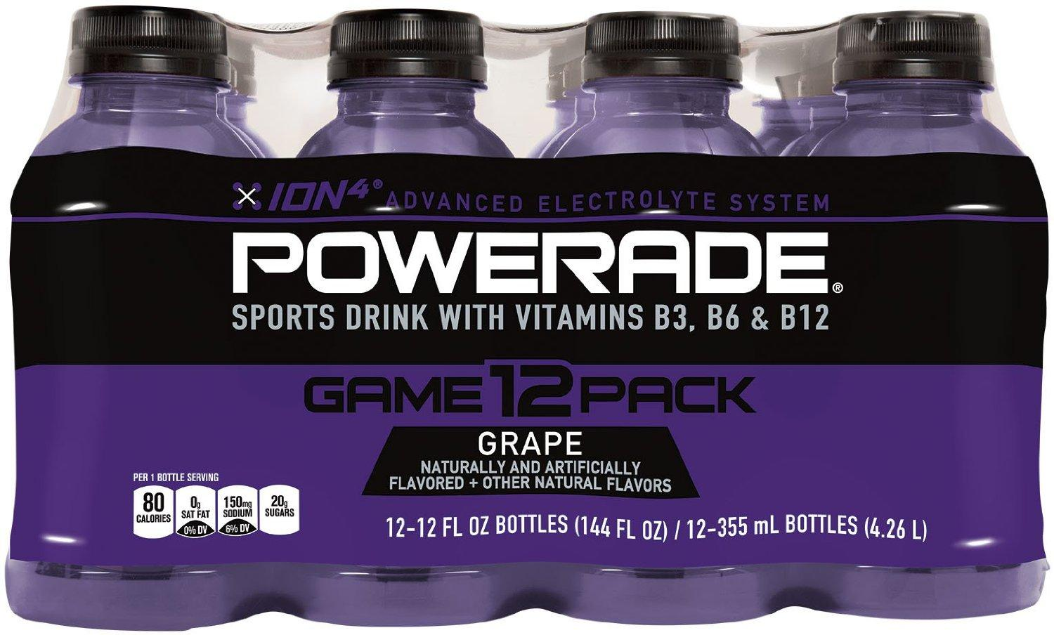 $3.4 POWERADE Grape, 12 ct, 12 FL OZ Bottle