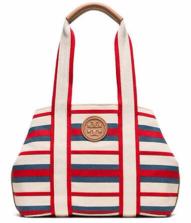Printed Canvas Small Tote