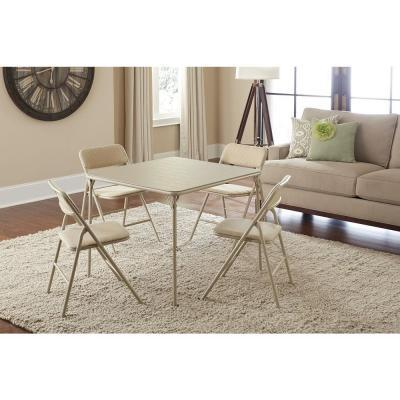 Cosco Folding Table and Chair Set in Beige Mist