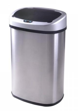 13-Gallon Touch-Free Sensor Automatic Stainless-Steel Trash Can Kitchen
