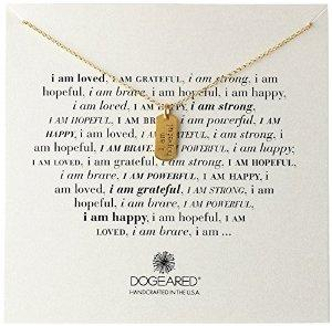 Dogeared Gold Dipped I Am Hopeful Editorial Chain Necklace