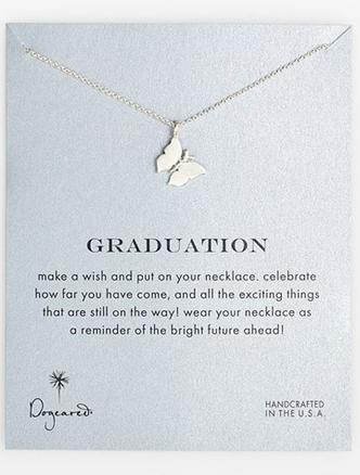 Dogeared 'Reminder - Graduation' Butterfly Pendant Necklace @ Nordstrom