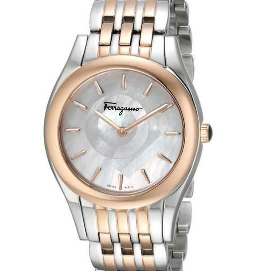 Salvatore Ferragamo Women's FG4080015 Lirica Analog Display Quartz Two Tone Watch