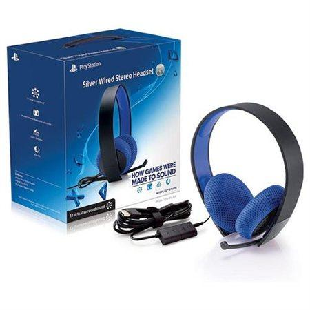 Sony PlayStation Silver Wired Stereo Headset - PS4