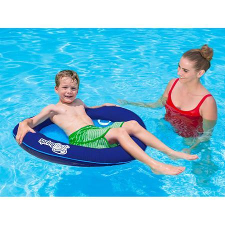 SwimWays Spring Float Kid's Boat Blue/Cyan