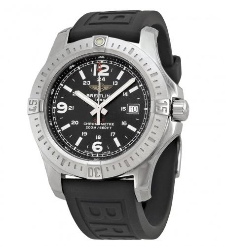 Breitling Colt Black Dial Black Rubber Men's Watch @ JomaShop.com