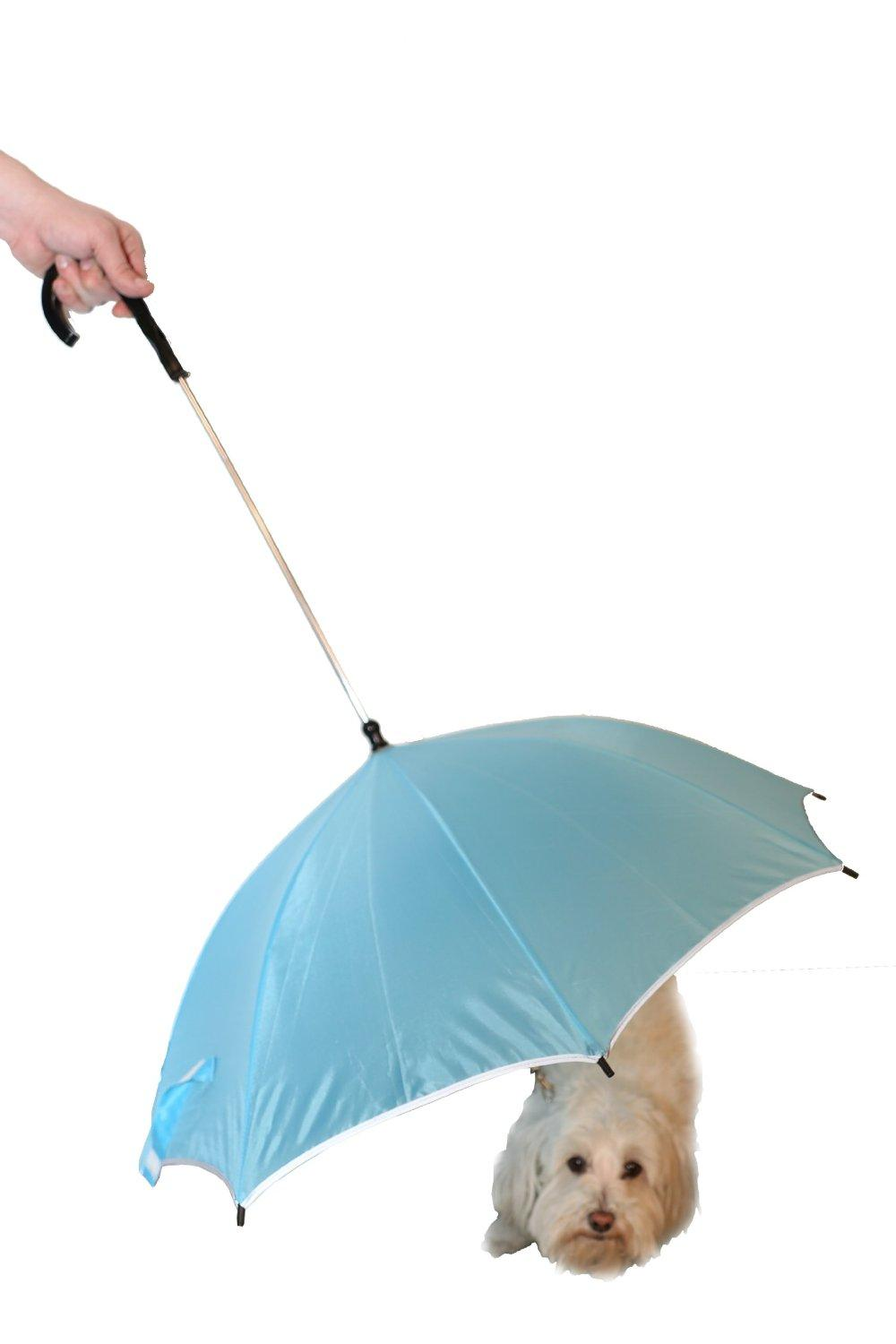 Pet Life Pour-Protection Umbrella with Reflective Lining and Leash Holder