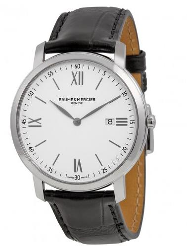 Baume & Mercier Classima Executives White Dial Stainless Steel Men's Watch @ JomaShop.com