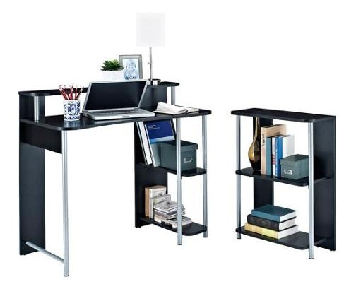 Desk with Bookcase Combo
