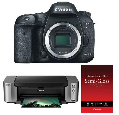 Canon EOS 7D Mark II DSLR Camera with PIXMA PRO-100 Printer Kit
