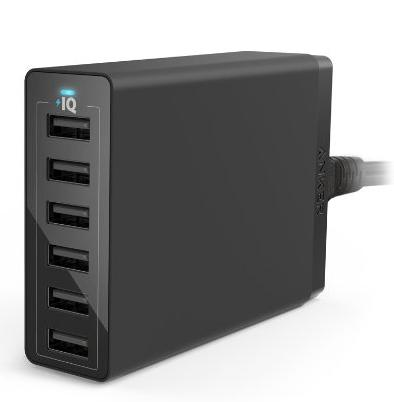 Anker 60W 6-Port USB Charger with PowerIQ Technology