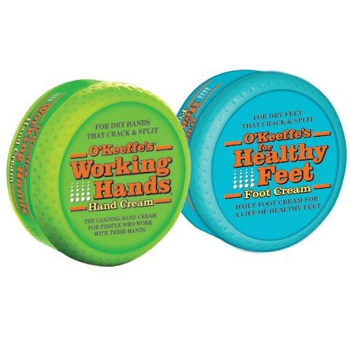 O'Keeffe's K0350015 Working Hands and Healthy Feet Combo Pack