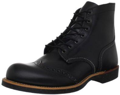 Red Wing Heritage 6-Inch Brogue Ranger Boot,Black,7 D US
