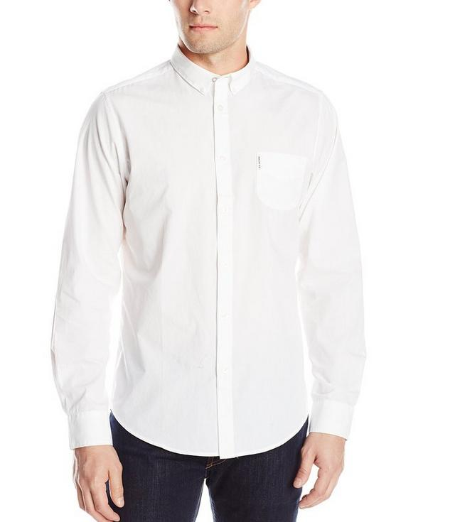 Ben Sherman Men's Long Sleeve End On End Woven