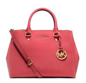 Sutton Medium Saffiano Leather Satchel @ Michael Kors