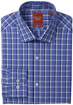 Original Penguin Men's Slim Fit Exploded Check, Vintage Blue, 15/32/33