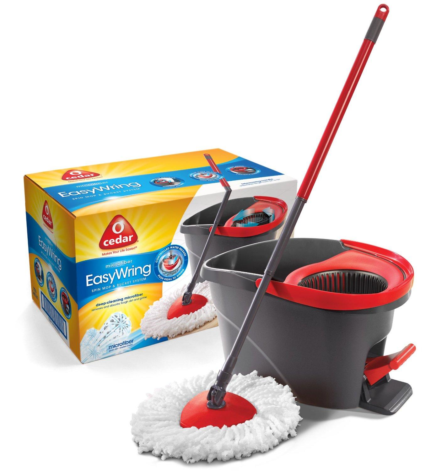 Recommended Amazon Item of the Week $42.99 O-Cedar Easy Wring Microfiber Spin Mop & Bucket System