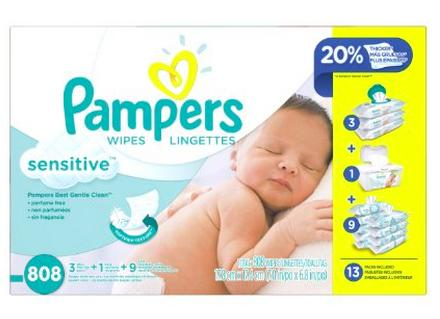 $18.48 Pampers Sensitive Wipes 13x Multipack, 808 Count