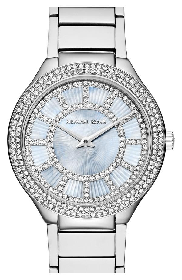 MICHAEL Michael Kors Michael Kors 'Kerry' Crystal Accent Bracelet Watch