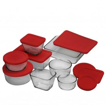 Anchor Hocking 16 Piece Glass Food Storage Set