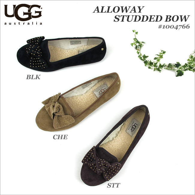 UGG Alloway Studded Bow Flats @ 6PM.com