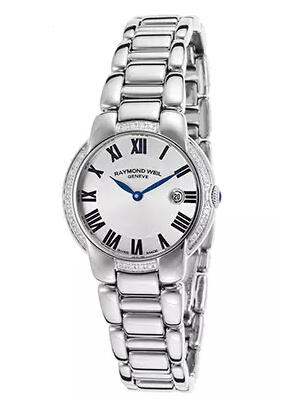 Raymond Weil Women's Jasmine Diamond Stainless Steel Silver-Tone Dial White Accent Watch 5229-STS-01659