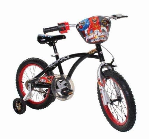 Power Rangers Boy's 16-Inch Mega Force Bike, Black and Red