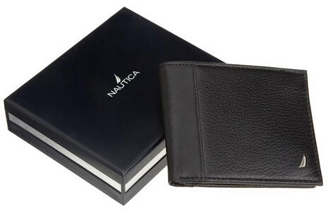 Nautica Men's Milled Passcase Wallet