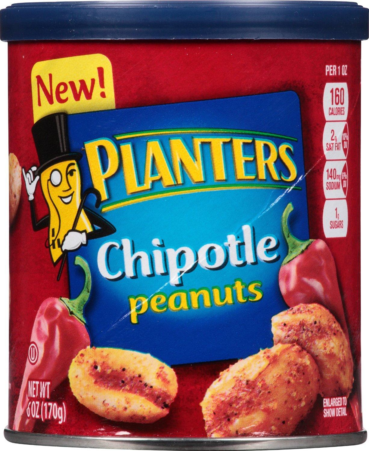 $8.43 Planters Peanuts, Chipotle, 6 Ounce (Pack of 8)