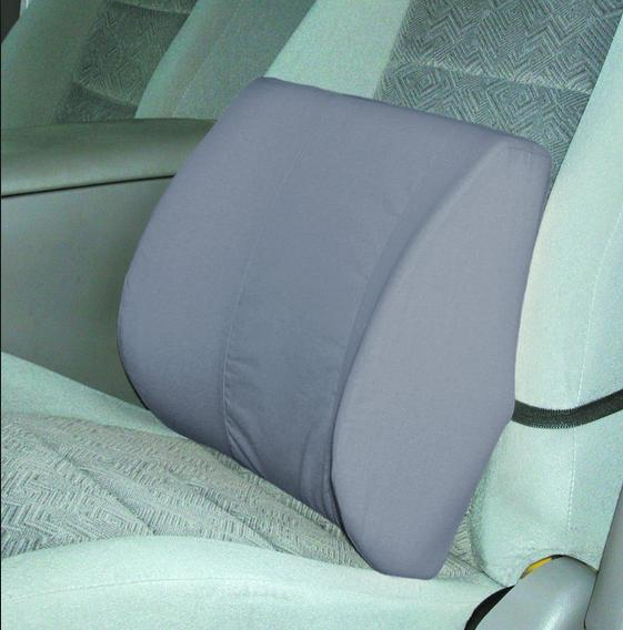 Duro-Med Relax-a-Bac, Lumbar Back Support Cushion Pillow with Insert and Strap Gray