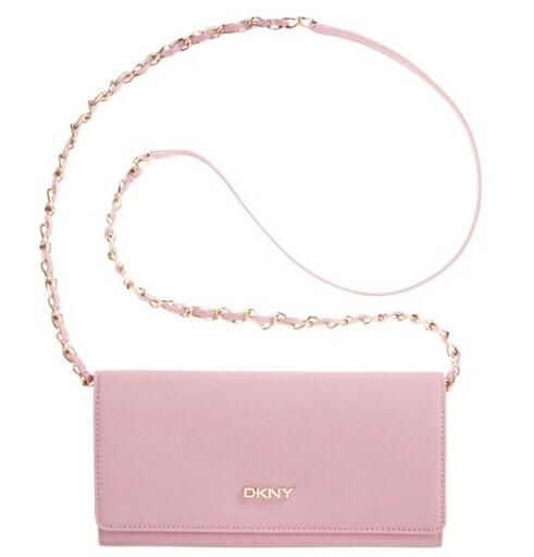 DKNY Bryant Park Saffiano Leather Wallet Clutch With Chain Handle @ macys.com
