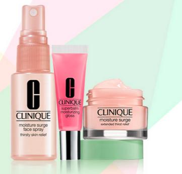 Free Moisture Trio Sample with Any Purchase of $40 @ Clinique