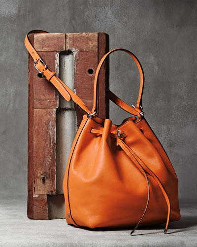 40% Off Select Tory Burch Leather Bucket Bag @ Neiman Marcus