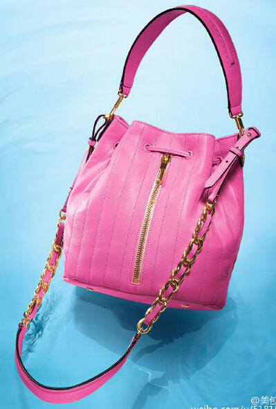 Elizabeth and James	 Cynnie Quilted Bucket Bag, Zinnia Pink