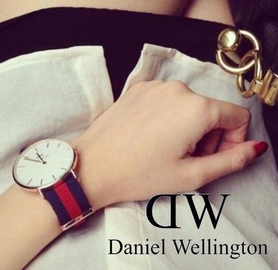 $71.99(原价$175.00) Daniel Wellington 0501DW 女士清新条纹石英手表