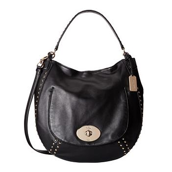 COACH Studded Leather Circle Hobo