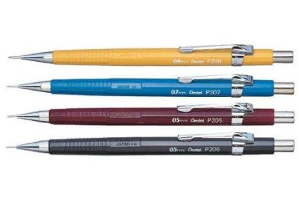 Pentel Sharp Automatic Pencil, 0.5mm, Black Barrels, 2 Pack