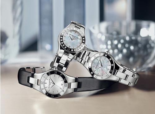 Baume and Mercier Linea Silver Dial Stainless Steel Ladies Watch 10070