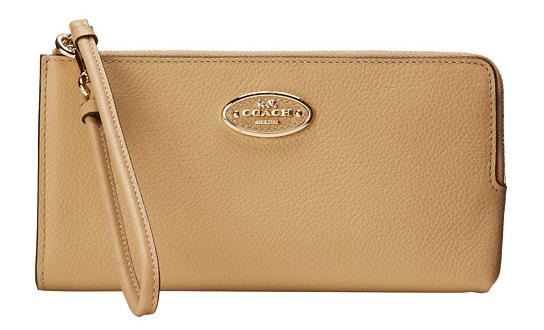 COACH Refined Grain Leather Zip Wallet