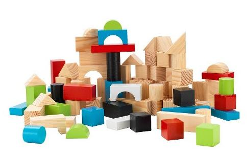 $8.39 KidKraft Wooden Block Set 100 Piece
